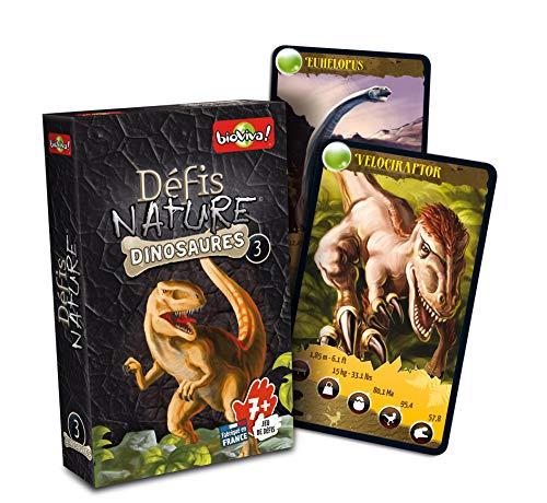 Bioviva 0101014114 Gioco Di Carte Sfide Natura Dinosauri 3 0 0