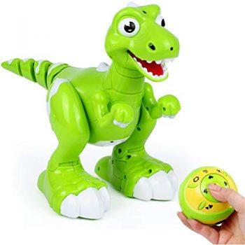 Eiseyen Robot Giocattolo Radiocomandato A Forma Di Dinosauro Radiocomandato Con Effetti Sonori Simulazione Spruzzo Agitatore Per Testa 0