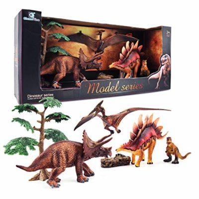 Gizmovine Dinosauri Giocattoli Set Gigante Dinosauro Figure Giocattoli Educativi Decorazioni Per La Casa Regalo Di Compleanno Per Ragazzi Bambini 0