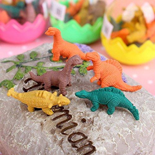 Jzk 24 Uova Di Dinosauro Giocattolo Con Piccolo Dinosauro Gomma Cancellare Matita Bomboniera Pensiero Pensierino Regalino Dopo Festa Compleanno Bambini 0 2