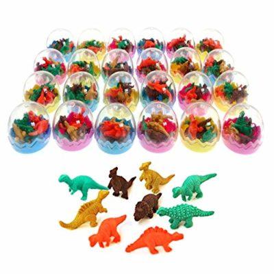 Jzk 24 Uova Di Dinosauro Giocattolo Con Piccolo Dinosauro Gomma Cancellare Matita Bomboniera Pensiero Pensierino Regalino Dopo Festa Compleanno Bambini 0