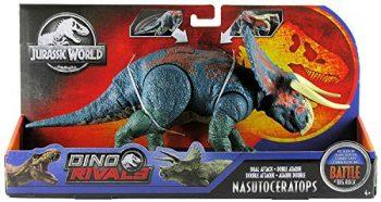 Jurassic World Nasutoceratopo Dinosauro Con Attacco Doppio Giocattolo Per Bambini 4 Anni Ggk11 0