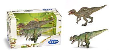 Papo 80102 Giocattolo Dinosauro Scatola Presentata In Edizione Speciale Figura Di Spinosauro Giovanile E Modello Ceratosauro 0