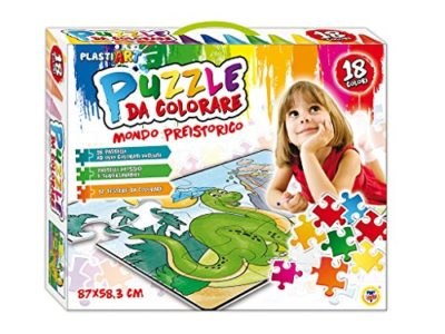 Teorema 64806 Puzzle Da Colorare Mondo Preistorico 18 Pastelli Ad Olio Inclusi 87 X 58 Cm 0 1