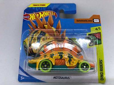 2019 Hot Wheels Motosaurus Yellow 2nd Colour 45 Dino Riders 63250 Short Card 0