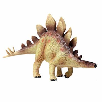 Flormoon Dinosauri Giocattoli Realistico Stegosauro Dinosaur Figure Di Dinosauri In Plastica Decorazioni Per Torte Feste Di Compleanno Giocattolo Per La Scuola Sul Retro Per Bambinigiallo 0