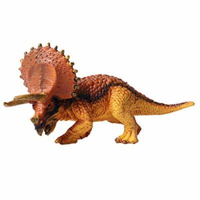 Flormoon Dinosauri Giocattoli Realistico Triceratopo Doro Dinosaur Figure Di Dinosauri In Plastica Decorazioni Per Torte Feste Di Compleanno Giocattolo Per La Scuola Sul Retro Per Bambini 0