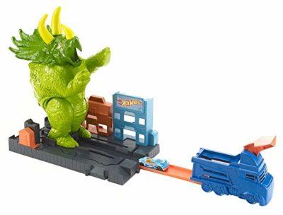 Hot Wheels City Playset Pista Attacco Del Triceratopo Con Lanciatore E Macchinina Giocattolo Per Bambini Di 4 Anni Gbf97 0