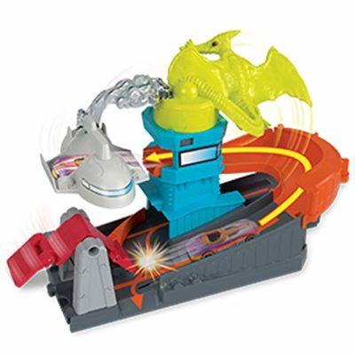 Hot Wheels Pista Pterodattilo Attacco Allaeroporto Playset Per Macchinine Con Veicolo Incluso Gioco Per Bambini Di 4 Anni Gbf94 0