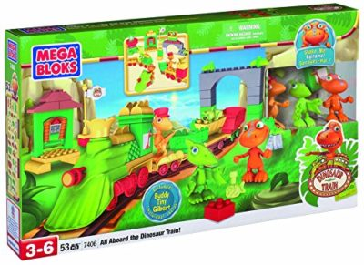 Mega Bloks 7406 Dinosaur Train Tutti A Bordo 53 Pezzi 0