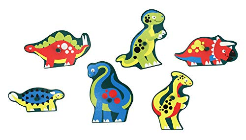 Melissa And Doug Peg Puzzle Dinosauri Legno 0 0