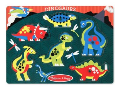 Melissa And Doug Peg Puzzle Dinosauri Legno 0