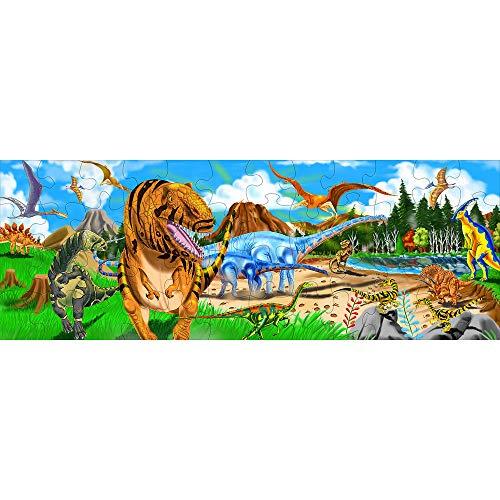 Melissa Doug Terra Dei Dinosauri Puzzle Da Pavimento 48 Pezzi 0