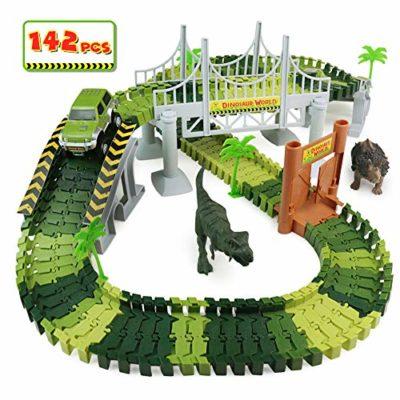 Pl Pista Macchinine Giocattolo Con Dinosauro Pista Flessibile Giocattolo Giocattoli Piste Macchinine Per Bambini Ragazza Ragazzo 3 4 5 6 Anni 142 Pezzi 0
