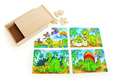 Small Foot 10174 Box Puzzle 4 In 1 Dinosauri 0