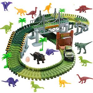 Pista Macchinine Con Dinosauri