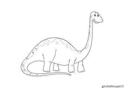 Brontosauro Immagini Da Colorare