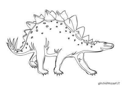 Dinosauro Stegosauro Stampa Colora