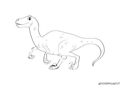 Immagini Velociraptor Da Colorare