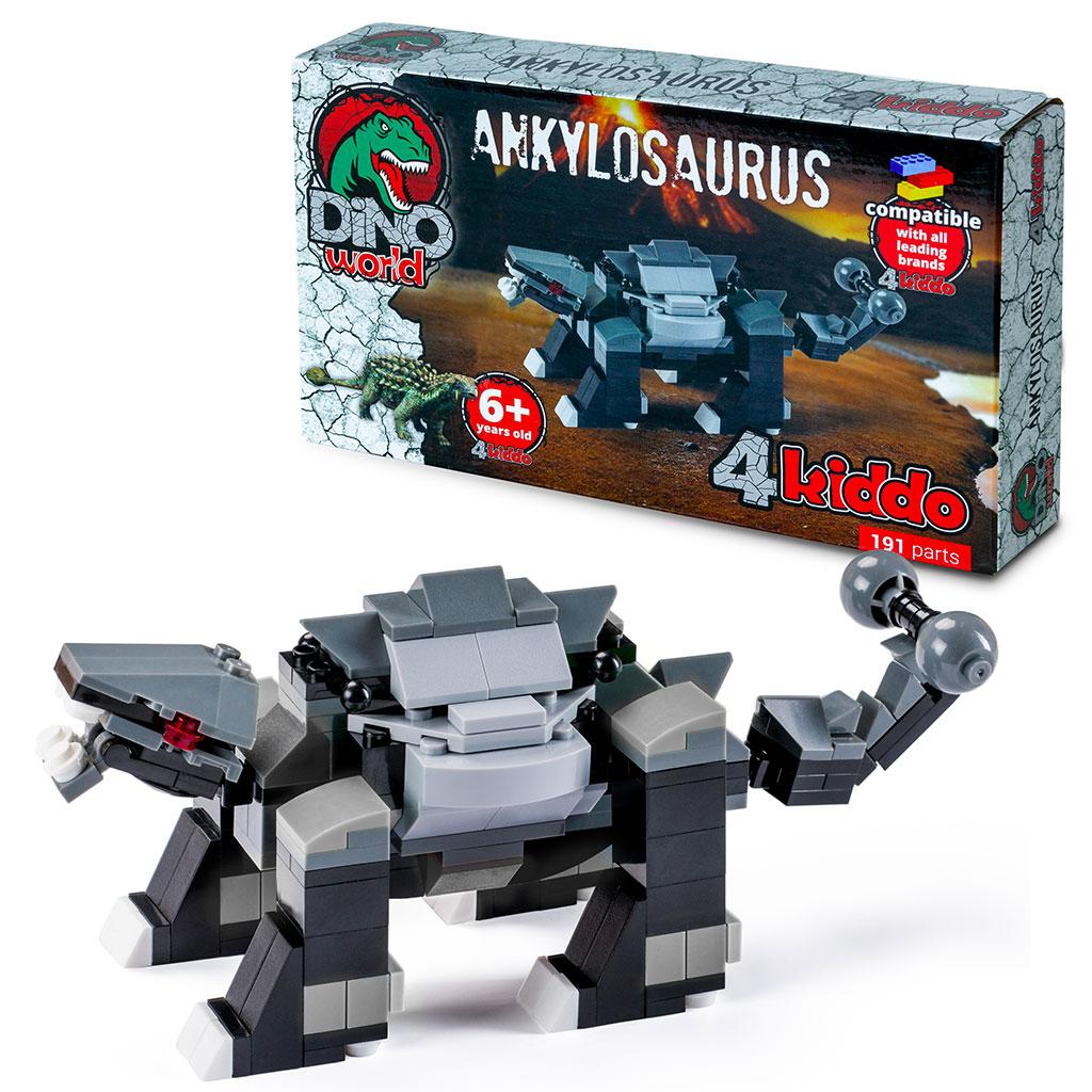 Anchilosauro Compatibile Lego 4kiddo Scatola Modellino