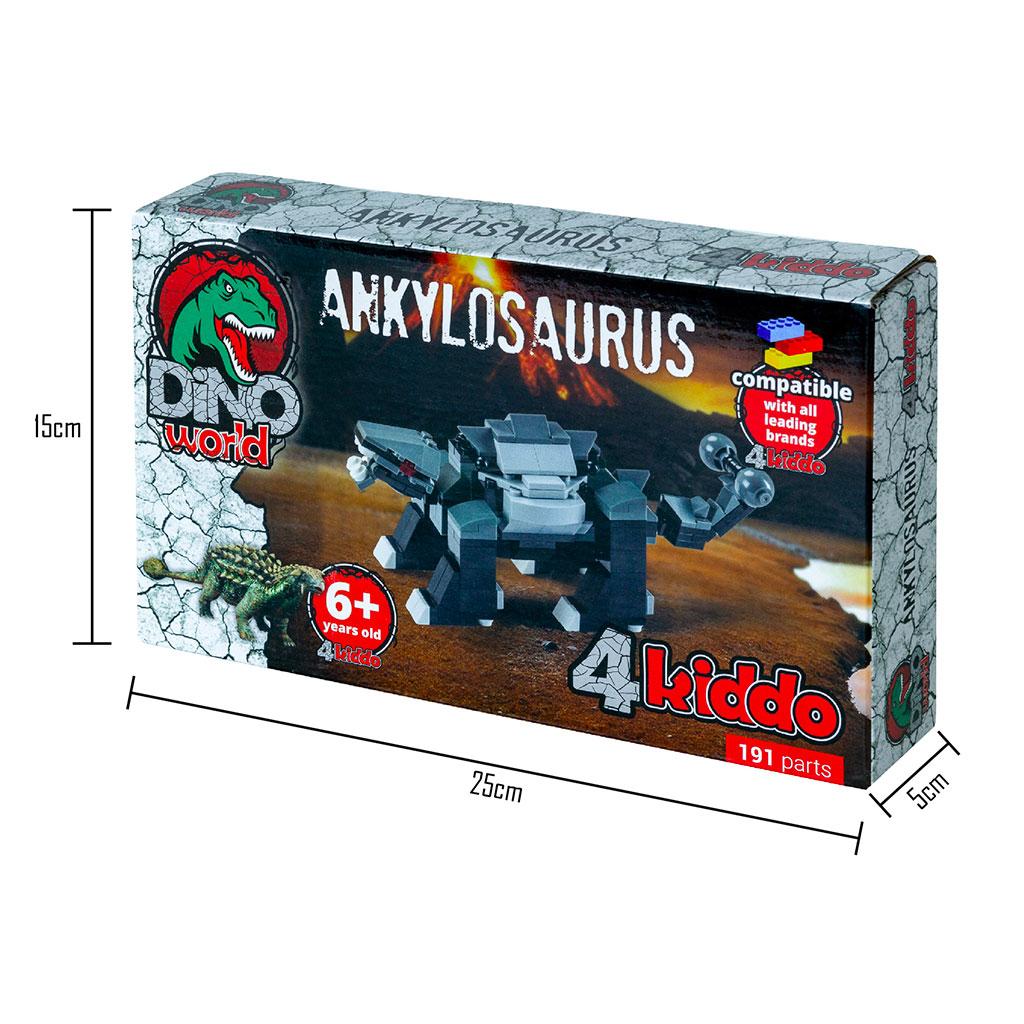 Anchilosauro Lego Compatibile 4kiddo Scatola Dimensioni