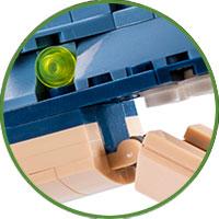 Brachiosauro Lego Compatibile 4kiddo Denti Mascella