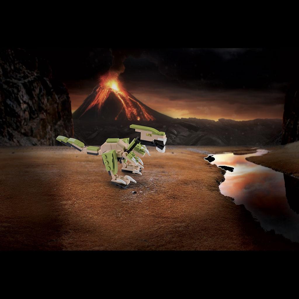 Deinonychus 4kiddo Lego Compatibile Vulcano