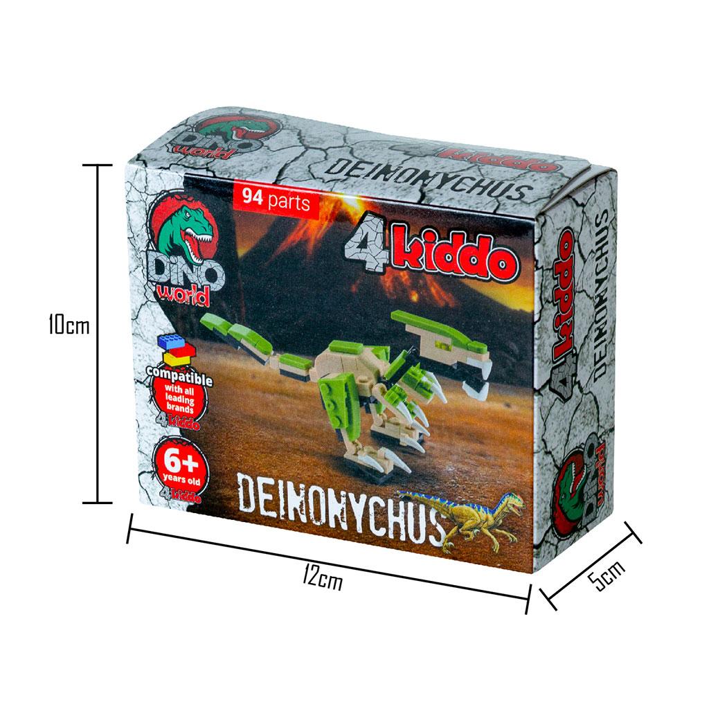 Deinonychus Lego Compatibile 4kiddo Scatola Dimensioni