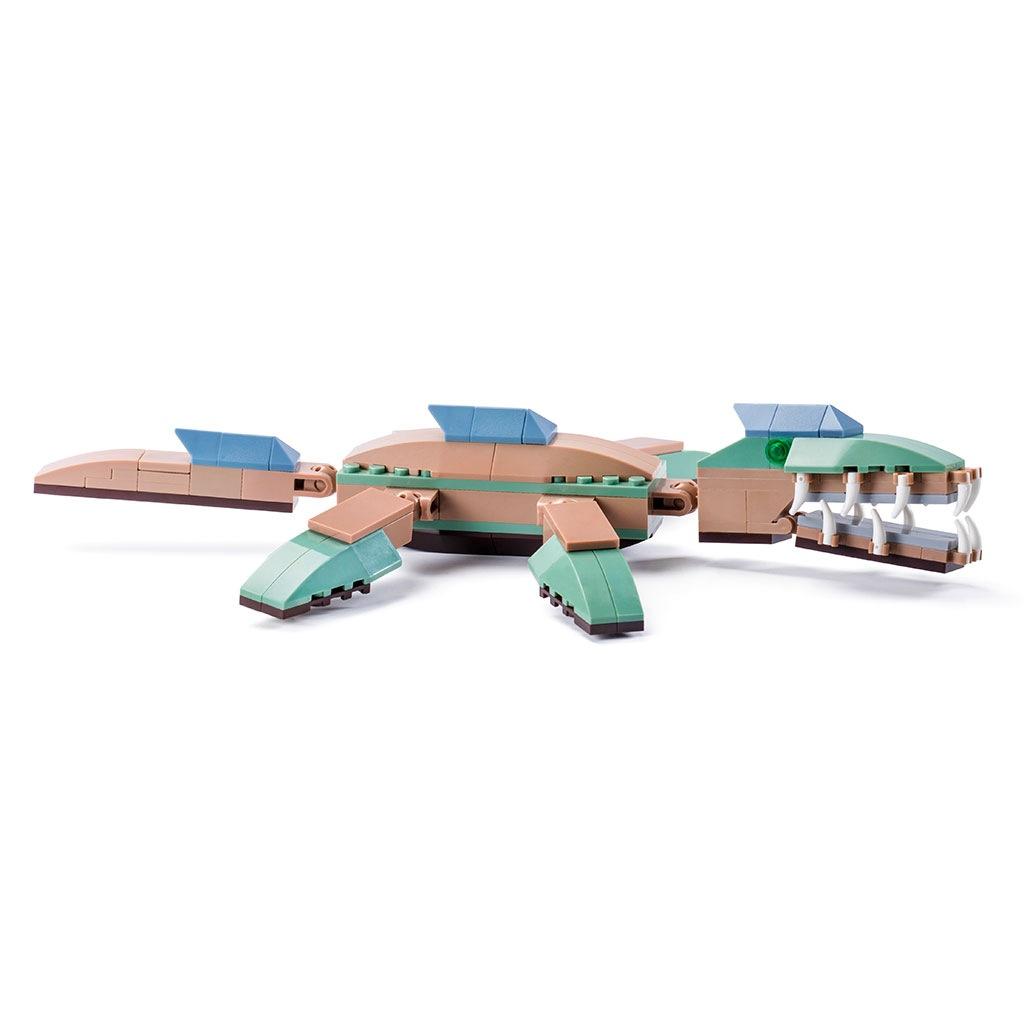 Pliosauro Lego Compatibile 4kiddo 126 Mattoncini Retro