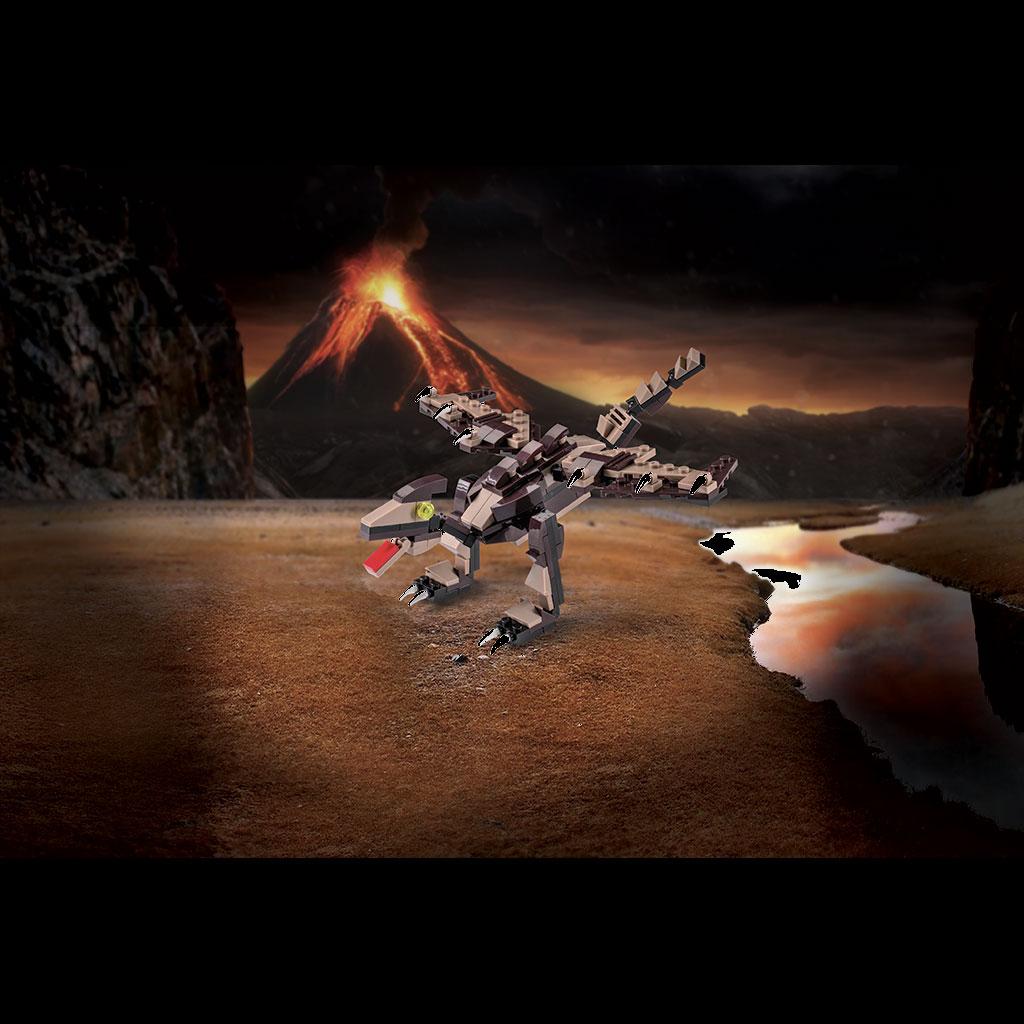 Pteranodonte Lego Compatibile 4kiddo Vulcano