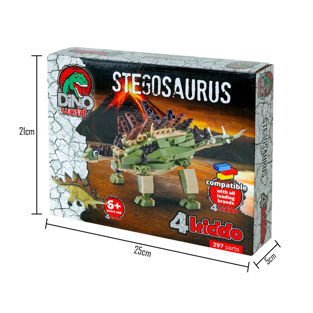 Stegosauro 4kiddo Lego Compatibile Scatola Dimensioni