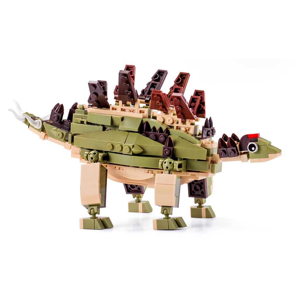 Stegosauro Lego Compatibile 4kiddo 297 Mattoncini Retro