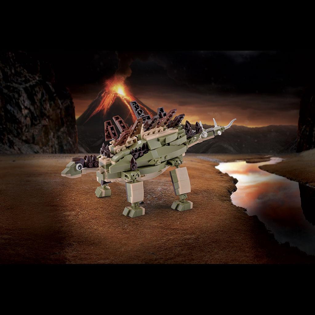 Stegosauro Lego Compatibile 4kiddo Modellino Vulcano