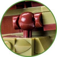 Tirannosauro Modellino Lego Compatibile Dettaglio Zampe Posteriori
