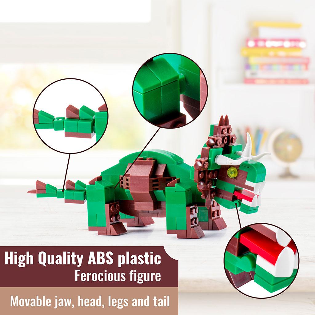 Triceratopo 4kiddo Lego Compatibile 206 Mattoncini