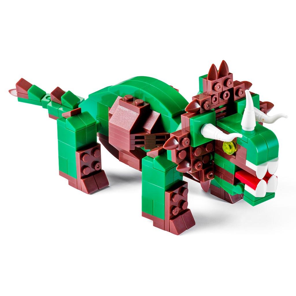Triceratopo Lego Compatibile 4kiddo 206 Mattoncini