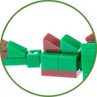 Triceratopo Lego Compatibile 4kiddo Coda