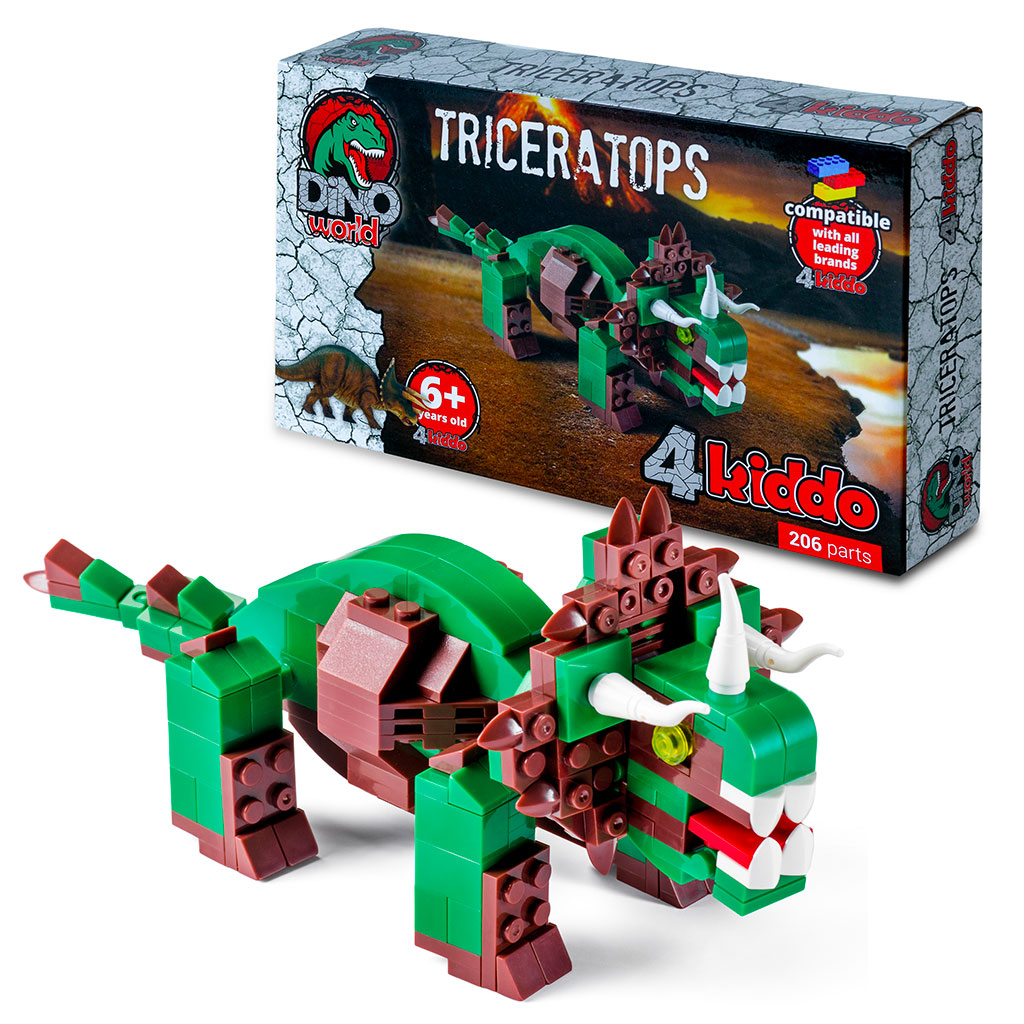 Triceratopo Lego Compatibile 4kiddo Modellino