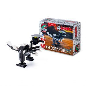 Velociraptor Lego Compatibile 4kiddo Modellino Scatola