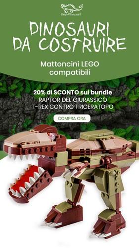 4kiddo Dinosauri Lego Compatibili Mattoncini