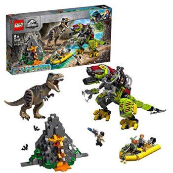Lego Jurassic World Gioco Per Bambini Battaglia Tra Trex E Dino Mech Multicolore 6278190 0