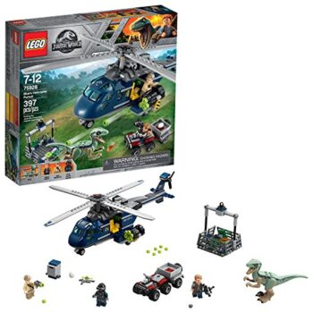 Lego Jurassic World La Poursuite En Helicoptere De Blue 75928 397 Pieces 0