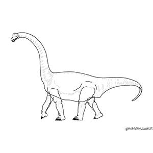 Brachiosauro da colorare