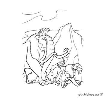 Mammut Da Colorare Per Bambini Cover