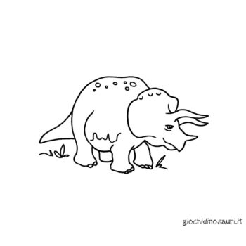 Dinosauri Da Colorare Triceratopo Cover