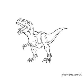 Dinosauri Da Colorare Velociraptor Cover