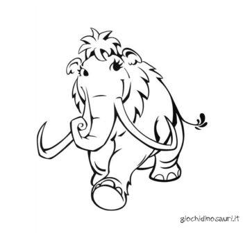 Disegno Di Mammut Da Colorare Cover