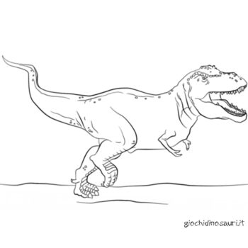 Tirannosauro Da Colorare Online Cover
